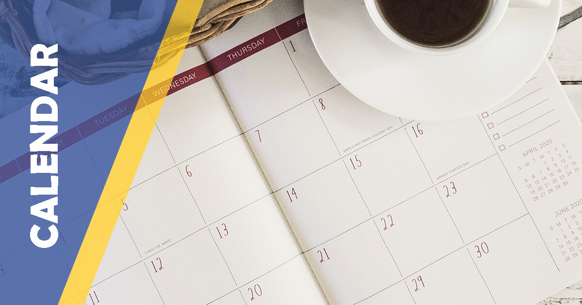 BC Mini Calendar Blue