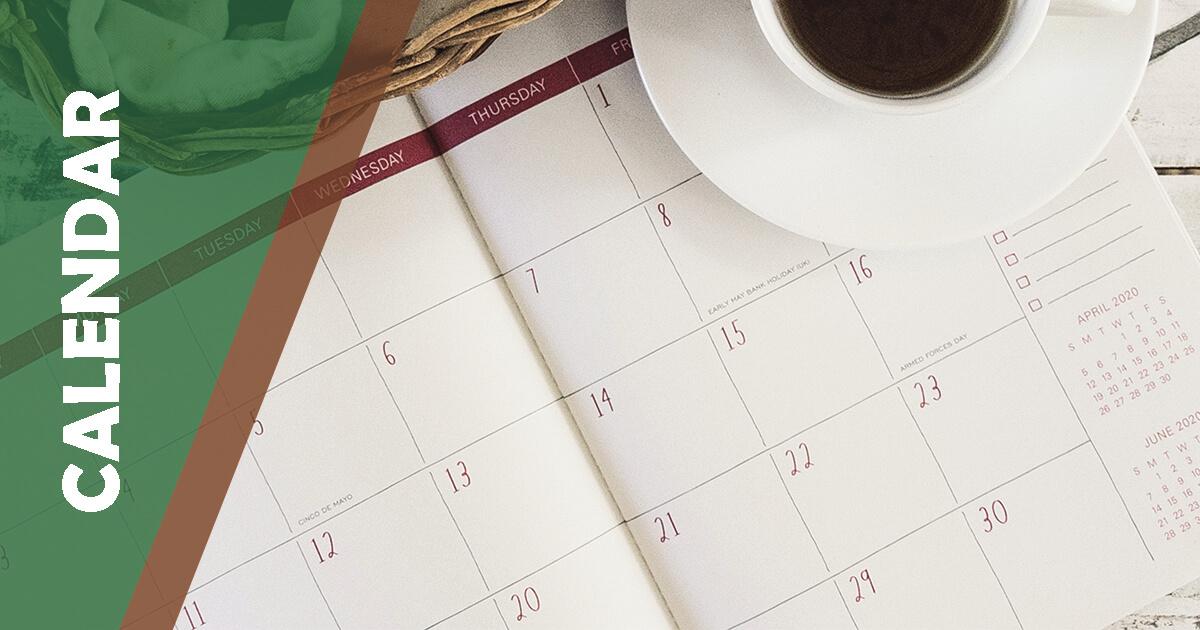 MSP Mini Calendar green
